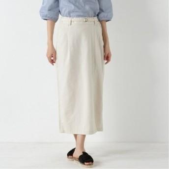 リネンブレンド◎サイドスリットロングスカート