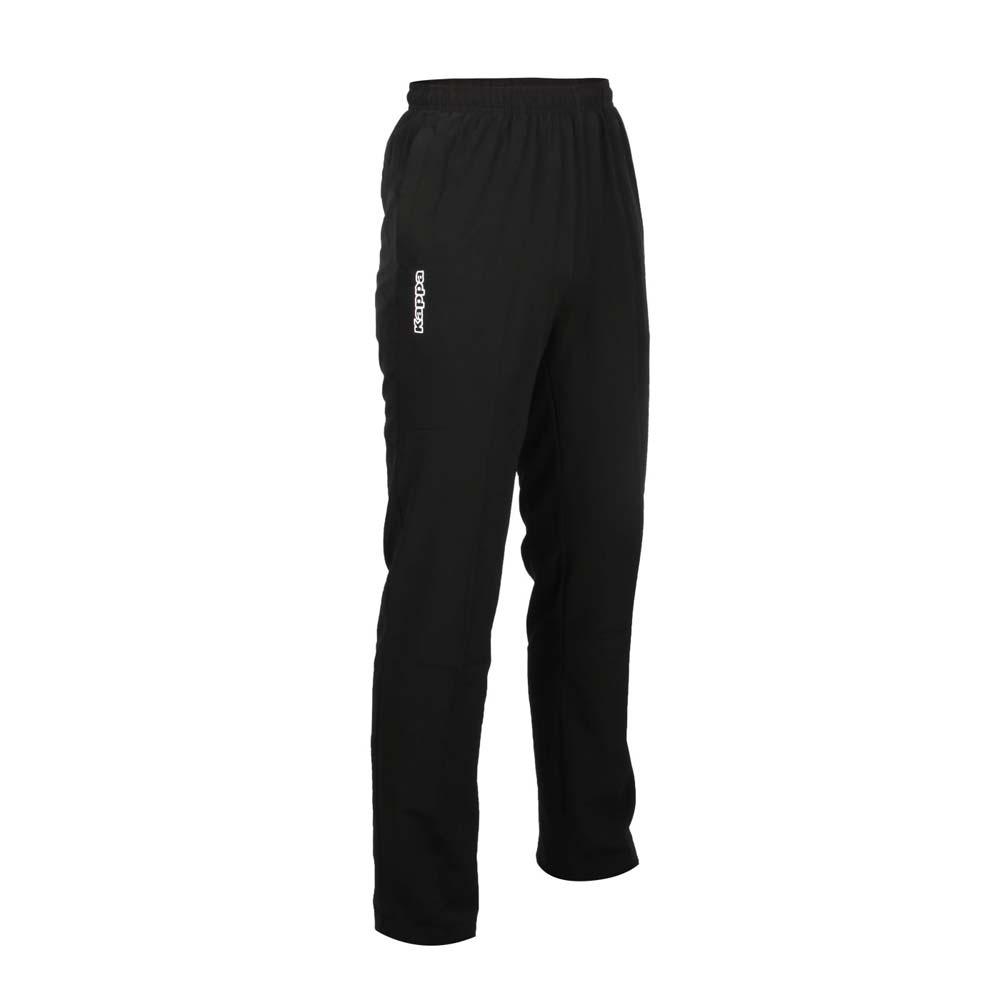 KAPPA 男單層運動長褲-慢跑 平織 路跑 黑白