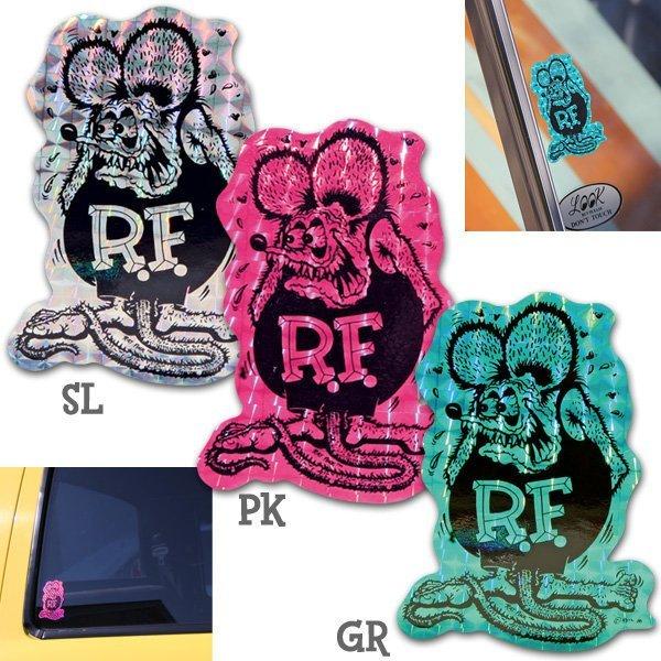RAT FINK / RATFINK - 老鼠芬克 菱鏡反光 防水貼紙