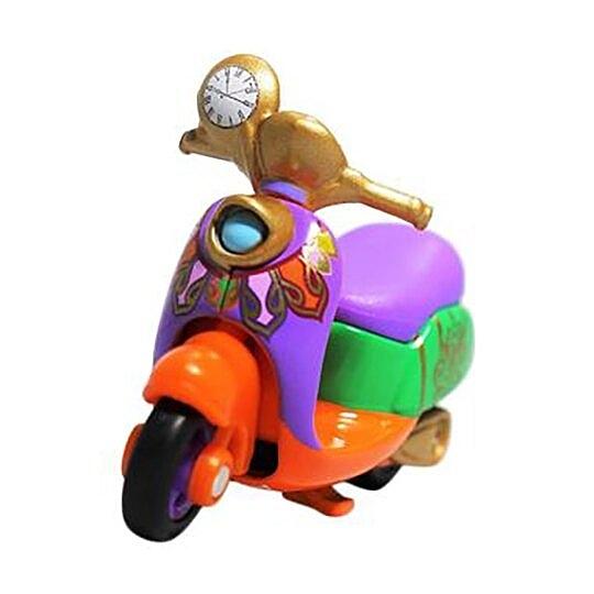 小禮堂 迪士尼 愛麗絲 魔鏡夢遊 TOMICA多美小汽車 摩托車 玩具車 模型 兒童玩具 (橘紫) 4904810-89297