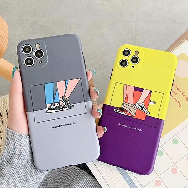 蘋果 iPhone11 Pro Max 11 Pro 情侶撞色 手機殼 全包邊 軟殼 可掛繩 保護殼