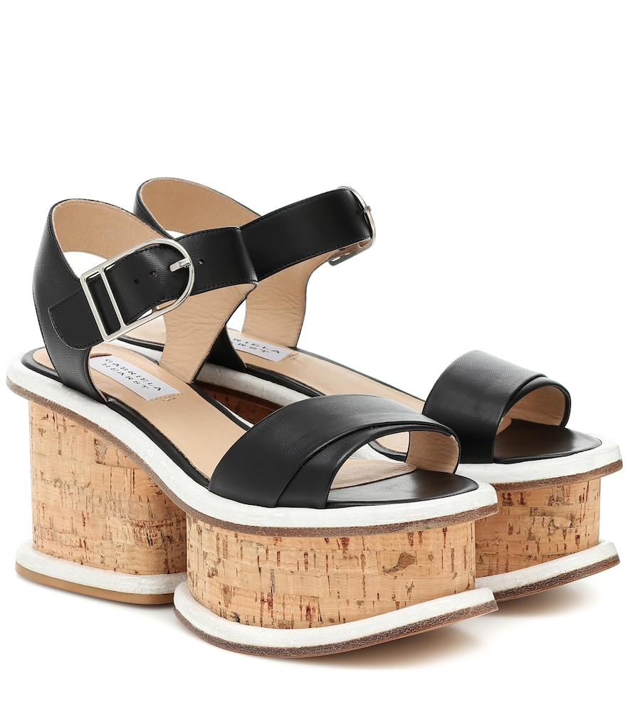 Harrigan leather and cork sandals