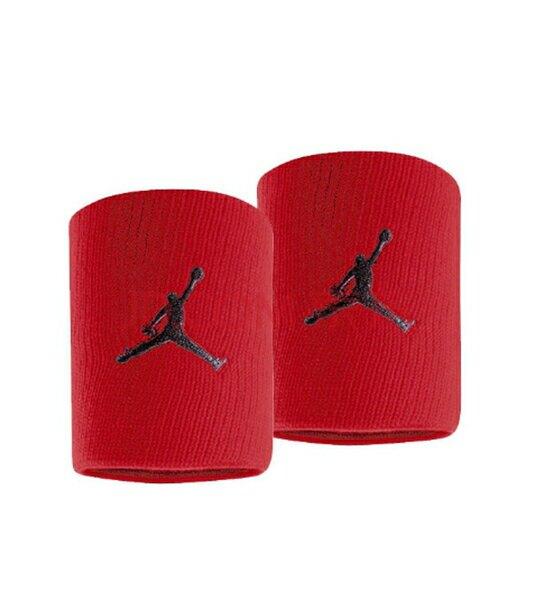 Nike Jorden Jumpman [JKN01605OS] 運動 打球 健身 護腕帶 吸濕 排汗 乾爽 彈性 紅