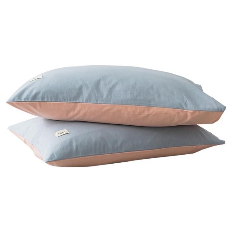 南極人簡約枕頭帶純棉枕套套裝單人學生宿舍酒店家用枕芯一對拍2