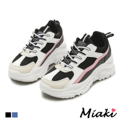 Miaki-老爹鞋百搭韓風休閒運動鞋-黑