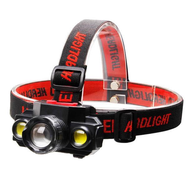 伸縮強光COB頭燈 LED頭戴式 戶外露營釣魚 單鋰電(自備) USB充電款【SV6946】