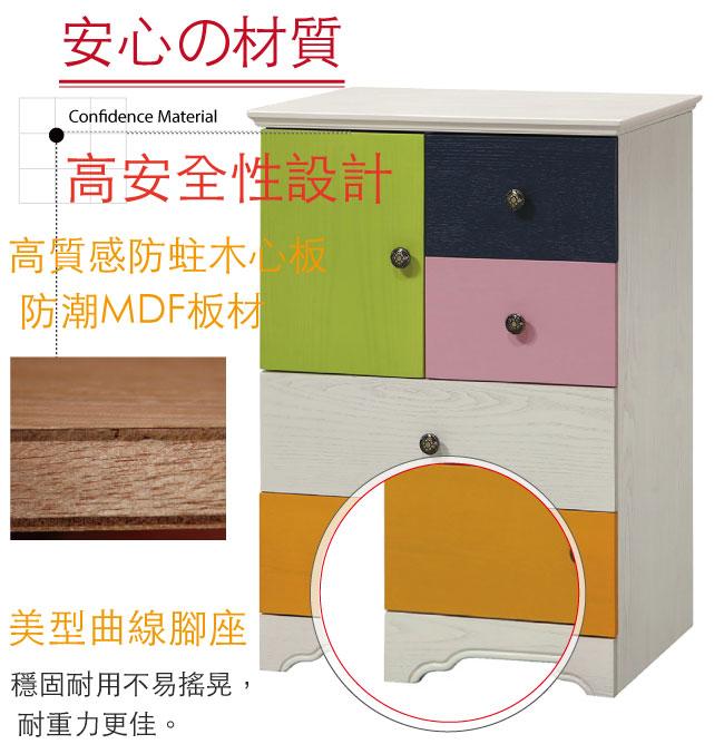 【綠家居】法斯 時尚2尺漾彩五斗櫃/收納櫃