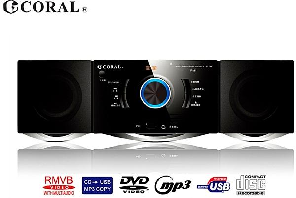 PM1 小型DVD音響 多功能媒體播放器
