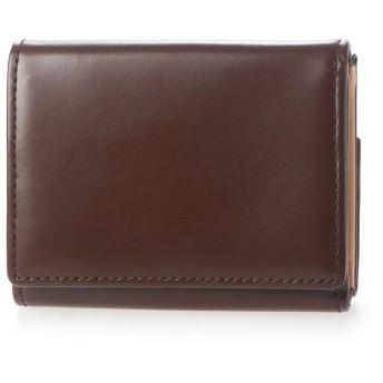 サトリ SATOLI 三つ折財布 (ダークブラウン)