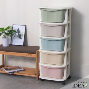 【IDEA】馬卡龍色收納車/收納櫃