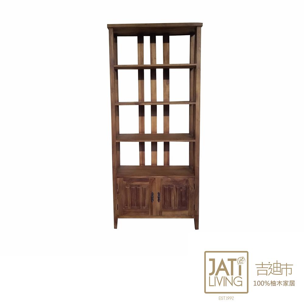 【吉迪市柚木家具】柚木開放式收納層櫃 抽屜櫃 置物櫃 書櫃 100%柚木製 保固一年 UNC1-37