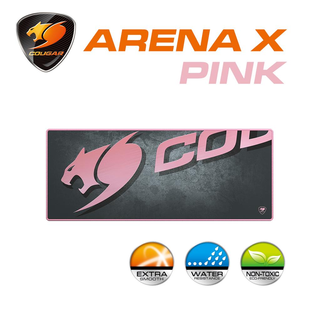 【COUGAR 美洲獅】 ARENA X PINK (粉色) 專業電競遊戲滑鼠墊
