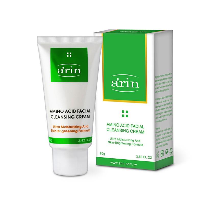 arin氧潤 胺基酸亮白保濕潔顏霜 80g
