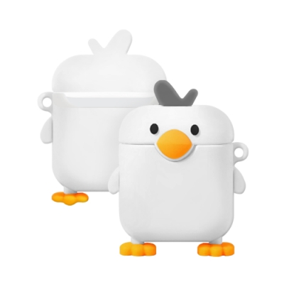 AirPods 1/2 代通用 可愛呆萌 小鴨造型 藍牙 耳機 保護套-呆萌小鴨*1