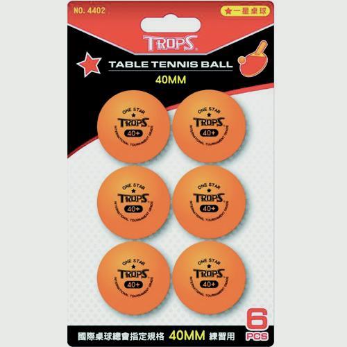 成功一星桌球6入-橘【愛買】