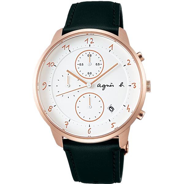 【日限款】法國簡約雅痞 agnes b. 時尚腕錶 40mm/日本製/設計師款/小b/防水/黑金/FBRW989 熱賣中