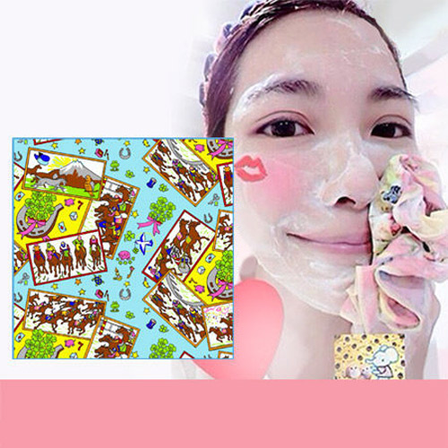 Pikka Pikka Y04 馬年 林鴒推薦 日本製 臉部毛孔潔淨布 洗臉布 花猴分享 熱賣中!