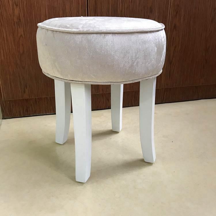 梳妝凳子實木小圓凳化妝臺凳子臥室椅子粉色ins凳子歐式登子椅子 YTL