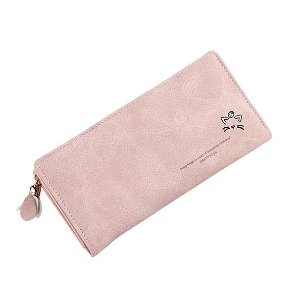 錢包長夾女 韓版長款手拿包 小清新拉鏈錢夾皮夾可愛少女心手機包 TR250『紅袖伊人』