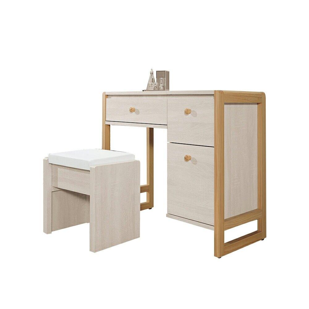 亞特蘭2.8尺掀式鏡台(含椅)/H&D東稻家居-消費滿3千送點數10%