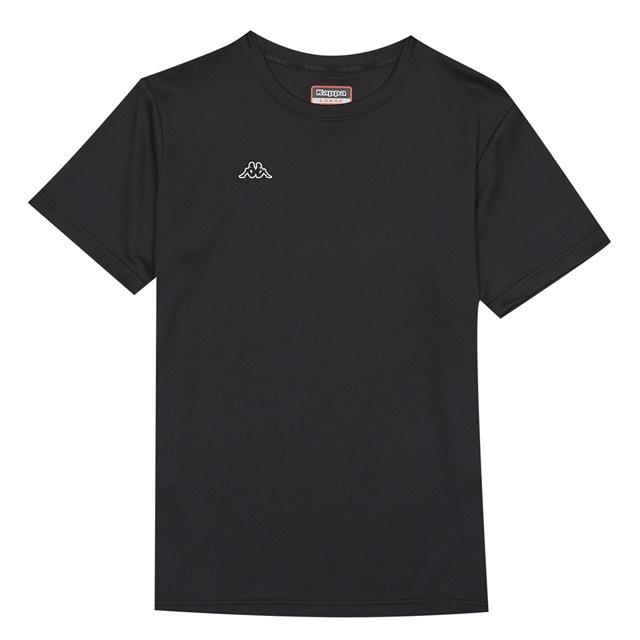 KAPPA義大利 時尚男吸溼排汗圓領衫 黑31199KW005