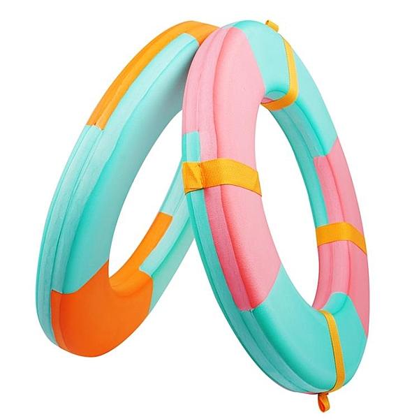 加厚加大船用專業成人兒童實心泡沫游泳圈救生圈高浮力免充氣裝飾ATF「青木鋪子」