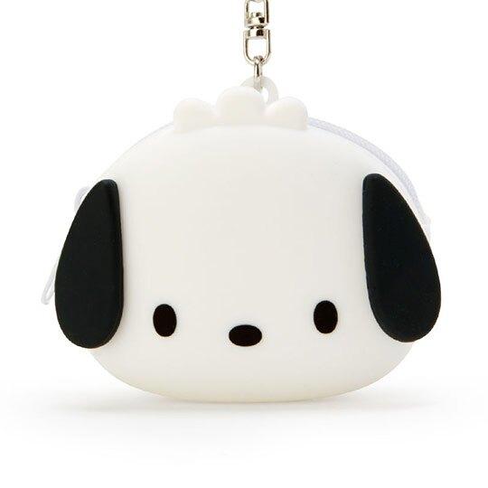 小禮堂 帕恰狗 零錢包 矽膠 收納包 小物包 耳機包 吊飾 掛飾 大臉造型 (白)