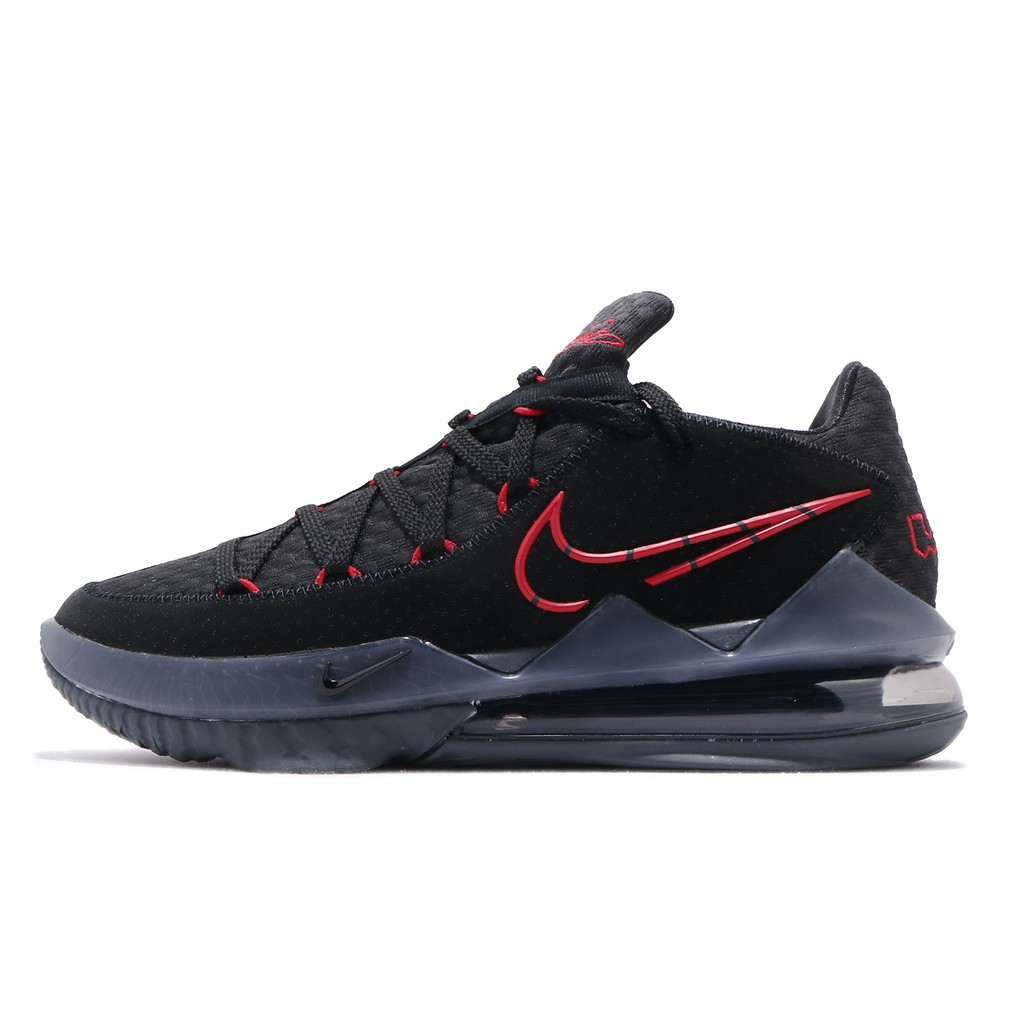 Nike 籃球鞋 Lebron XVII Low EP 17 Bred 黑 紅 男鞋 CD5006-001 【ACS】