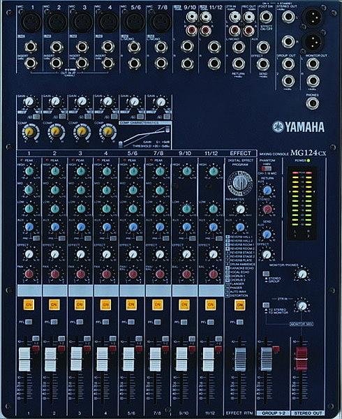 專業舞台音響 專業混音器 YAMAHA MG124C  前級混音器  訊號控制器.舞台喇叭.廣播主機.廣播喇叭