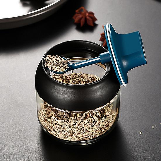 調料罐 油刷 刷油瓶 油鹽醬醋 蜂蜜罐 加厚玻璃 密封罐 分裝瓶 勺蓋一體 調味瓶【A039】生活家精品