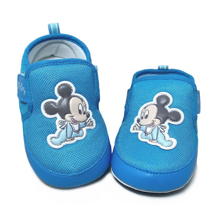 【超取$399免運 | 滿額↘再折$150】迪士尼DISNEY 童款米奇寶寶軟底學步鞋 寶寶鞋 [118838] 藍 MIT台灣製造【巷子屋】