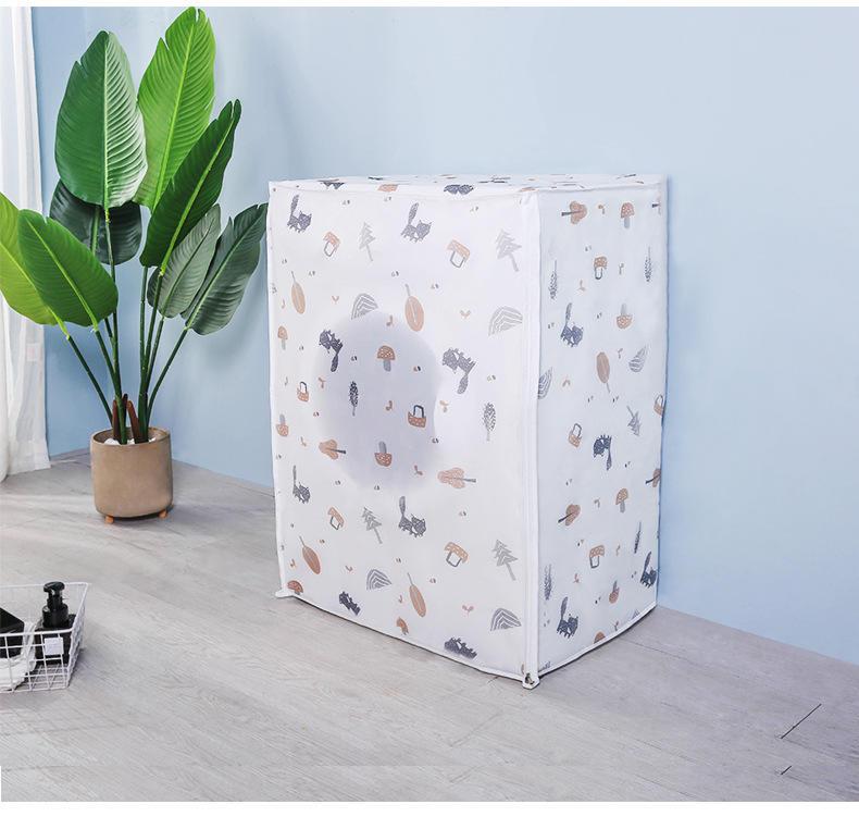 森林動物款【洗衣機防塵套】 洗衣機保護套 洗衣機套 洗衣機罩 防曬 防水罩 堅韌耐用 上開/滾桶