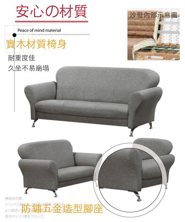【綠家居】傑克曼 時尚灰柔韌亞麻布紋皮革沙發組合(1+2+3人座組合)