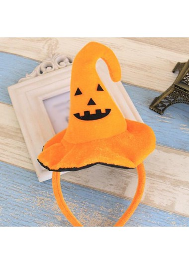 Orange Witch Hat Design Halloween Hair Band
