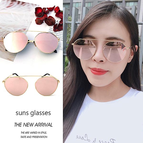韓版時尚名媛金屬太陽眼鏡 精緻圖騰框 網紅墨鏡 抗紫外線UV400