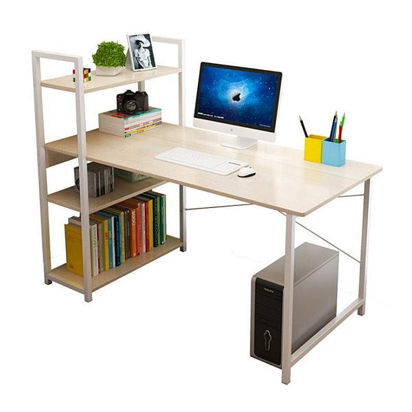 【AH120】H書架桌120CM(免運) 電腦桌 辦公桌 書桌 書架 EZGO商城