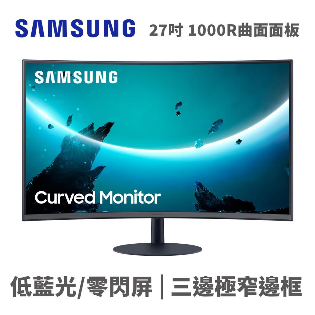 三星 SAMSUNG C27T550FDC 27吋 電腦螢幕 曲面 1000R F-Sync