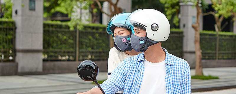 Gogoro 原廠 抗霾可水洗透氣口罩 騎步走  換電趣