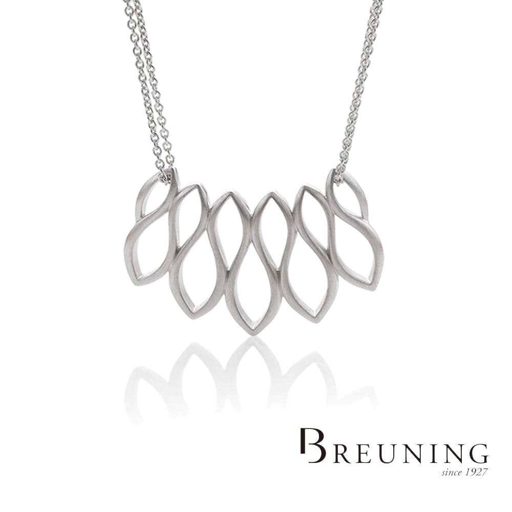 【德國 Breuning】925純銀 彩帶項鍊