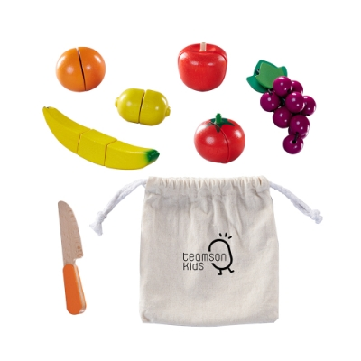 Teamson 廚房配件實木水果切切樂(14件組)