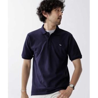 ナノ・ユニバース 《WEB限定》ドライビングワンポイントポロシャツ メンズ ネイビー XL 【nano・universe】