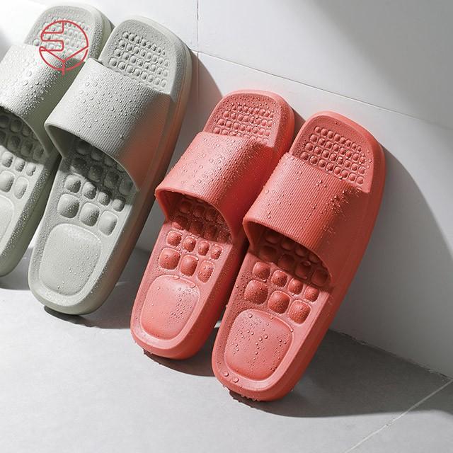 【日本霜山】女款環保EVA輕量無臭防滑拖鞋(穴位按摩/室內/室外/浴室)-2色