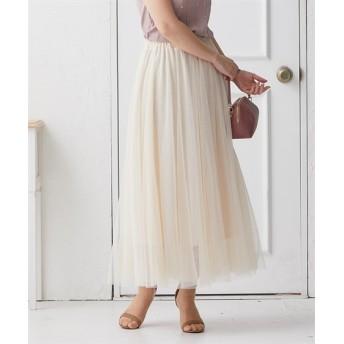 ふんわり着映えシルエット♪10枚ハギチュールスカート (ひざ丈スカート)Skirts