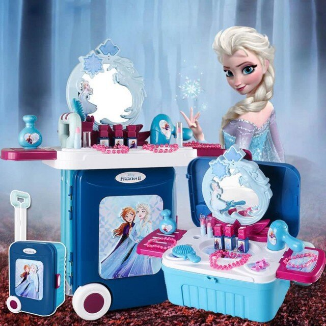 《 Disney 迪士尼 》冰雪奇緣2-化妝旅行箱 東喬精品百貨  2020聖誕禮物 玩具