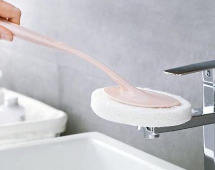 MC006 長柄清潔海綿刷-粉色