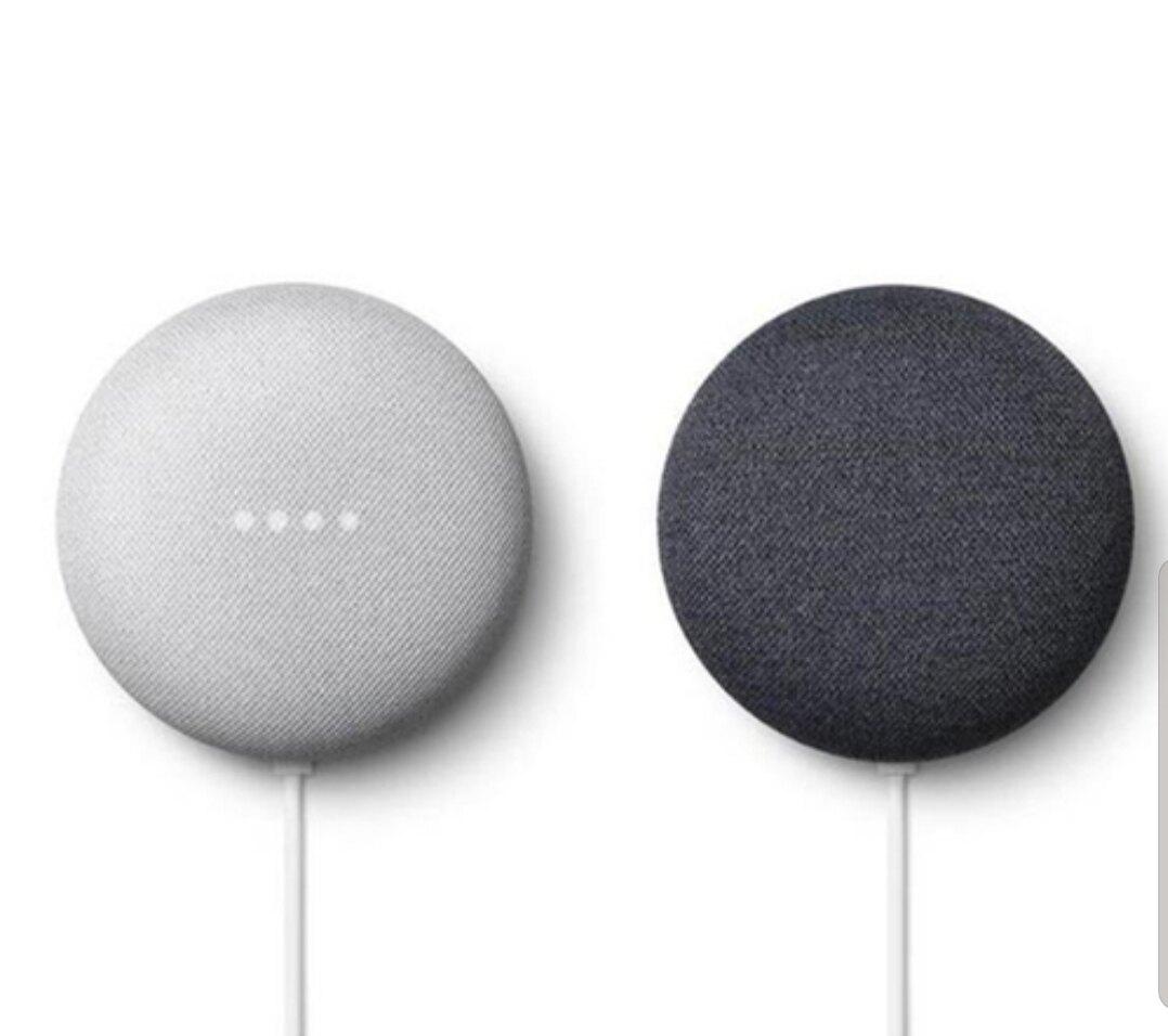 Google Nest Mini 智慧語音聲控喇叭音箱—粉炭白、石墨黑「台哥大原廠公司貨獨賣」