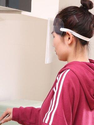 防油濺面罩 廚房炒菜防油煙防油濺面罩女士全臉部防護遮面具做飯面部護臉神器『TZ2352』