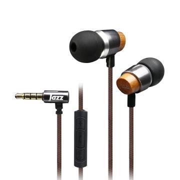 INTOPIC 入耳式木質耳機麥克風-鐵灰(JAZZ-I89-GR-1)