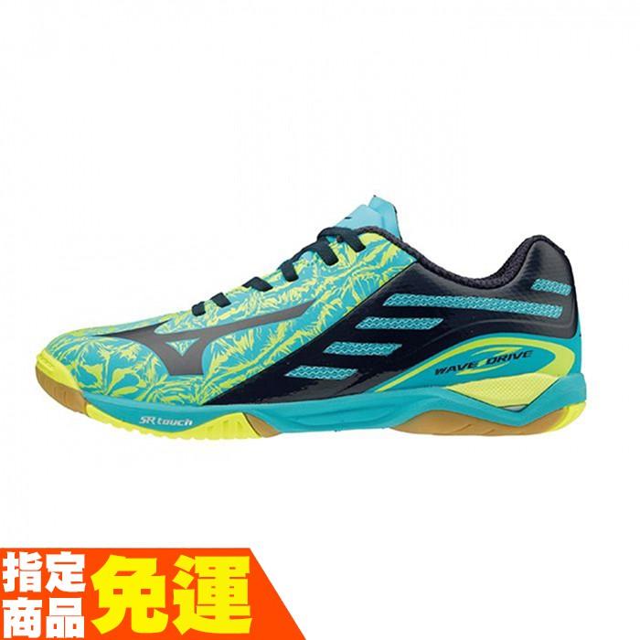 MIZUNO 男女桌球鞋 WAVE DRIVE Z系列 湖藍 81GA160025 贈運動襪 20SS 【樂買網】
