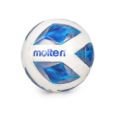 MOLTEN #5合成皮足球-訓練 5號球 白藍銀 F